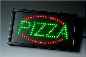 led leuchtdisplay modell oval deluxe - pizza -